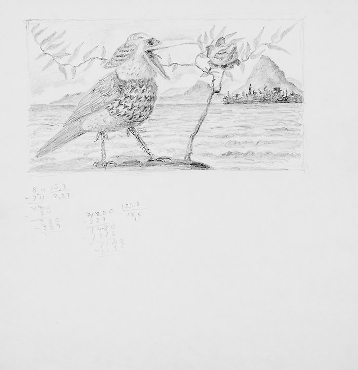 Drawing  1972  graphite on paper  203 x 208 mm