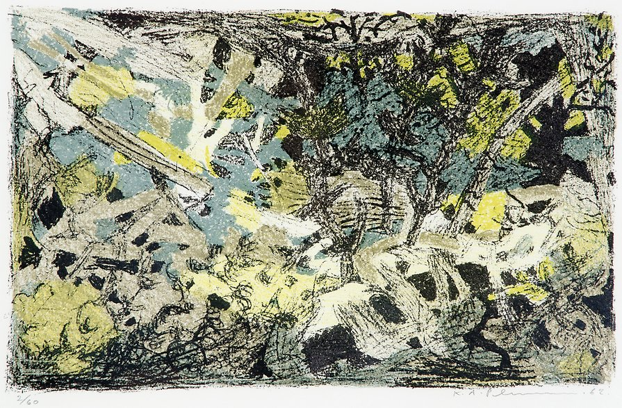 The First Greeness  1962  lithography  310 x 190 mm